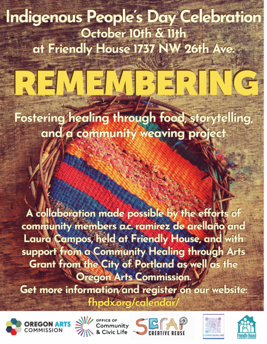 Flyer for Remembering Event, text included in description below